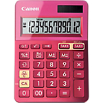 Calcolatrice da tavolo Canon LS123K solare e batteria rosa