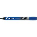 Marcatori permanenti Pilot 100 punta tonda 1.0 mm blu 12 pezzi