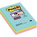 Foglietti adesivi Post it Super Sticky colori assortiti senza perforazione 101 x 152 mm 70 g