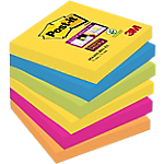 Notes Post it Super Sticky Rio assortiti 76 x 76 mm 6 pezzi 90fogli