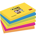 Notes Post it Super Sticky Rio assortiti 76 x 127 mm 6 pezzi 90fogli