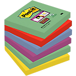 Foglietti Post it Super Sticky Marrakesh assortiti 76 x 76 mm 6 blocchetti 90fogli