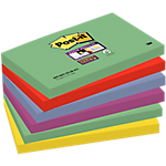 Foglietti Post it Super Sticky Marrakesh assortiti 76 x 127 mm 6 blocchetti 90fogli