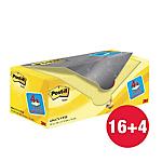 Foglietti riposizionabili Post it 654 giallo canary 76 x 76 mm 70 g