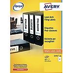 Etichette per raccoglitori Avery bianco 100 etichette 25 fogli
