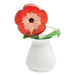 Set Dispenser Fiore + Nastro adesivo 3M Fiore rosso   bianco 9m (l) 2 pezzi