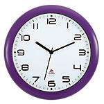 Orologio da parete al quarzo Alba viola bianco 30 (Ø) x 30 (p) x 30 (Ø) cm