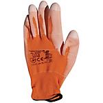 Guanti Di protezione poliuretano taglia 10 arancione