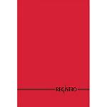 Registro rosso a righe A4 29,7 x 21 cm