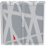 Armadio Paperflow grigio 104 (l) x 110 (p) x 41,5 (h) cm