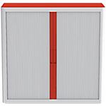 Armadio Paperflow grigio rosso 104 (l) x 110 (p) x 41,5 (h) cm