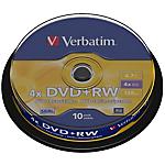 DVD RW Verbatim 4x 4.7 gb 43488 argento 10 pezzi