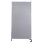 Parete divisoria magentica Serena WAL804017G grigio chiaro 170 (h) x 80 (l) x 40 (p) cm