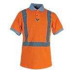 Maglietta Polo SEBA HV poliestere taglia m arancione