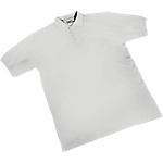 Maglietta a manica corta SEBA Piquet cotone taglia l bianco
