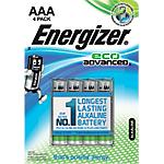 Pile Alcaline Energizer Eco Advanced AAA confezione 4