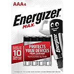 Pile Alcaline Energizer Max AAA confezione 4