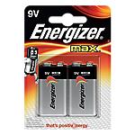 Pile Alcaline Energizer Max 9V confezione 2