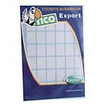 Etichette autoadesive Tico bianco 38 (l) x 74 (h) mm 60 etichette