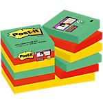 Foglietti Post it Super Sticky assortiti 48 x 48 mm 12 pezzi x 90 fogli