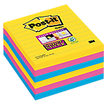 Notes riposizionabili 3M Super Sticky giallo, blu, rosa 101 x 101 mm 74 g