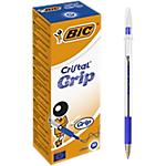 Penne a sfera BIC Cristal Grip 1 mm blu 20 pezzi
