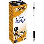 Penne a sfera BIC Cristal Grip 1 mm nero 20 pezzi