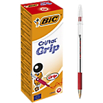 Penne a sfera BIC Cristal Grip 1 mm rosso 20 pezzi