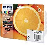 Cartuccia inchiostro Epson originale 33xl a colori c13t33574010 confezione 5