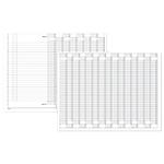 Registro cassa condominio Semper 136410000 bianco a righe 31 x 24,5 cm 96 fogli