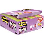 Foglietti Post it Super Sticky assortiti 47,6 x 47,6 mm 24 pezzi
