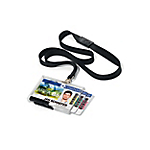 Porta badge DURABLE Trio Pushbox trasparente