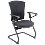 Sedia per visitatore niceday Snowdown nylon nero