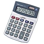 Calcolatrice da tavolo Office Depot AT 711 a batteria, solare argento