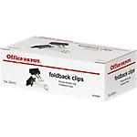 Molle fermacarte Office Depot nero, archetti cromati 3.2 cm capacità 14 mm 12 pezzi