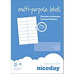 Etichette multifunzione niceday bianco 105 (l) x 35 (h) mm 100 fogli