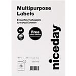 Etichette multifunzione Niceday bianco 1000 etichette 100 fogli