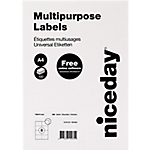 Etichette multifunzione niceday bianco 105 (l) x 74 (h) mm 100 fogli