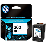 Cartuccia inchiostro HP originale 300 nero cc640ee#251