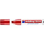Marcatore permanente edding 800 punta a scalpello 4 12 mm rosso
