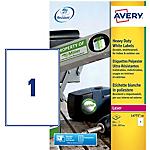 Etichette AVERY Zweckform Heavy Duty bianco 210 (l) x 297 (h) mm 20 etichette 20 fogli