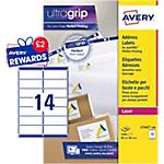Etichette per indirizzi Avery Zweckform QuickPEEL bianco 99,1 (l) x 38,1 (h) mm 1400 etichette 100 fogli