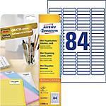 Etichette per diapositive Avery bianco 46 (l) x 11,1 (h) mm 2100 etichette 25 fogli
