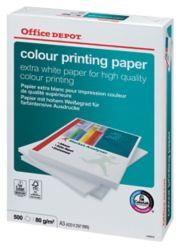 La carta Office Depot Color Printing